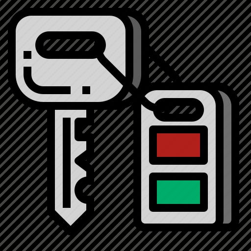 car, key, lock, remote icon