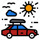 car, roof, summer, top, travel icon