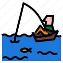 boat, fishing, water icon