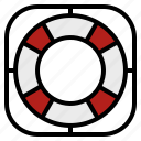 buoy, help, life, lifebuoy, ring icon