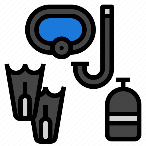 diver, scuba, snorkel, underwater icon