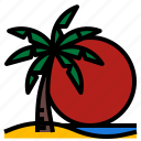 beach, sea, sky, sun, sunrise icon
