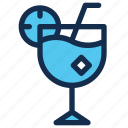 beverage, cocktail, drink, glass, ice, summer icon