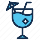 beach, beverage, cocktail, drink, glass, ice, summer icon