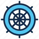 nautical, navigation, sea, ship, travel, wheel icon