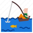 fish, fishing, boat