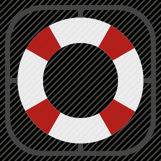 buoy, help, life, lifebuoy, ring icon