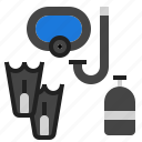 underwater, scuba, dive icon