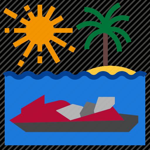 boat, sea, vacation, watercraft icon