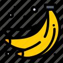 bananas, food, fruit, summer icon