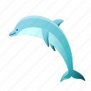 animal, aquatic, dolphin, nature, sea, summer, travel icon