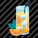 summer, cocktail, citrus, refreshment, beverage, juice, orange