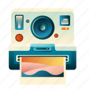 camera, photo, photography, polaroid, summer, travel, vacation