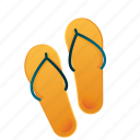 beach, flip-flop, sandal, slipper, summer, travel, vacation icon
