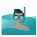 summer, vacation, snorkel, sea, diving, snorkeling, scuba icon