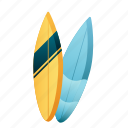 beach, sea, summer, surfboard, surfboards, surfing icon