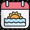 calendar, summer calendar, date, schedule, holiday, vacation, summer