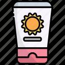 sun cream, sun block, lotion, sunblock, sunscreen, skincare, summer