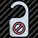 door tag, door hanger, door label, do-not-disturb, door handle, door knob, hotel