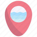 placeholder, location, pin, pointer, marker, beach, sea