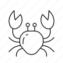 crab, holiday, resort, summer, vacation icon