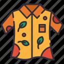 clothes, garment, hawaiian, shirt icon