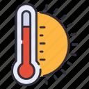 summer, sun, thermometer