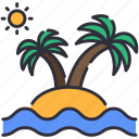 beach, island, palms icon