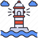 building, light, lighthouse icon
