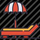beach, summer, umbrella