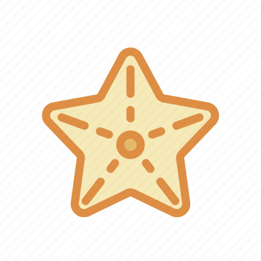 animal, sea star, underwater icon