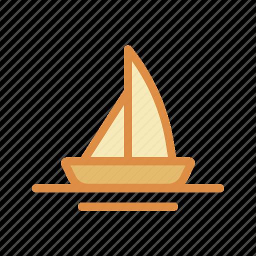 boat, sailing, ship, transportation, vehicle icon