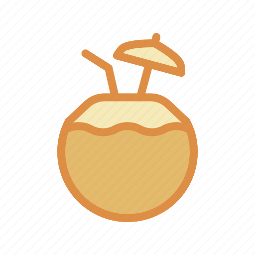 beach, coconut, drink icon