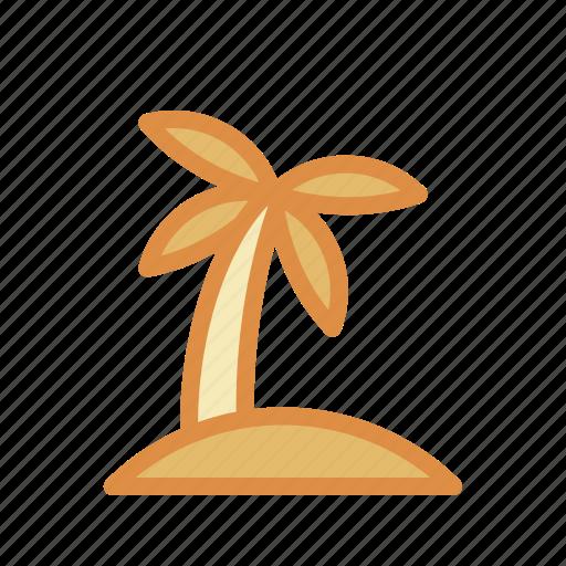 coconut, island icon