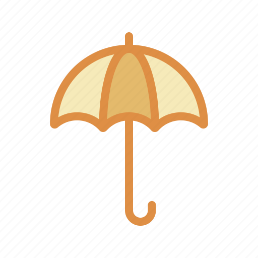 summer, umbrella, weather icon