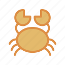 animals, crab, sea icon