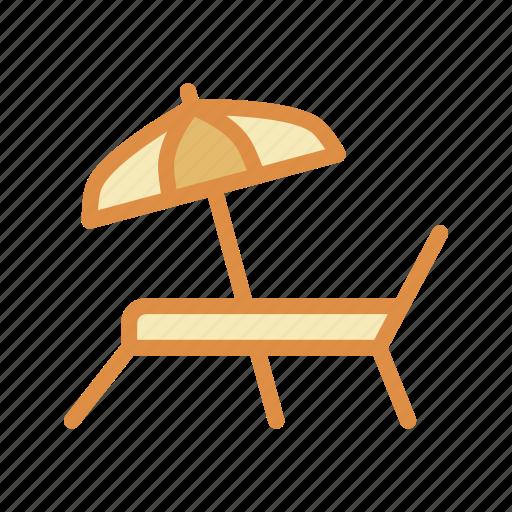 beach, sunbathing, umbrella icon
