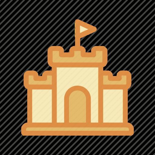 building, castle, sand icon