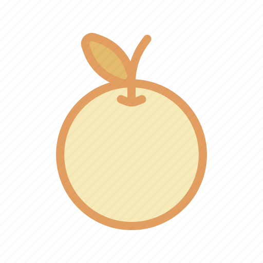 Orange, tropical, fruit icon