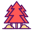 ecology, forest, green, nature, outline, summer, traveling, tree icon