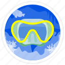 diving, goggles, sea, swimming icon