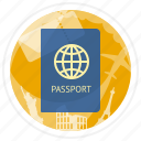 id, pass, passport, travel icon
