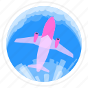aircraft, flight, plane, travel icon