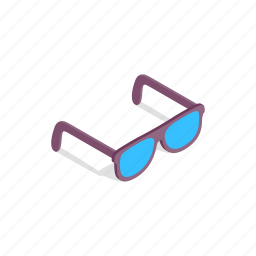brown, eye, fashion, glass, isometric, summer, sunglass icon