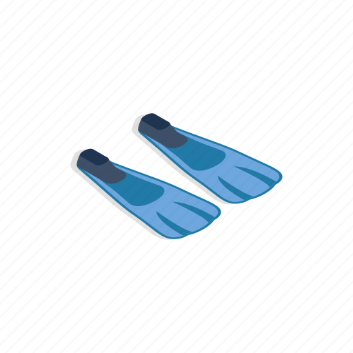 equipment, fin, flipper, isometric, sport, summer, vacation icon