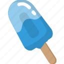 blue, cold, cool, ice cream, popsicle, summer icon