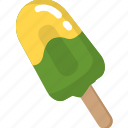 cold, cool, green, ice cream, popsicle, summer icon