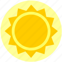 heat, hot, noon, summer, sun, sunny icon