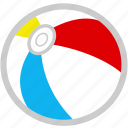 ball, beach, beach ball, summer icon