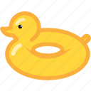 beach, duck, rubber, rubber duck, summer icon